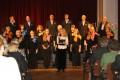Koncertu kuplināja arī skolotāju kamerkoris no Ogres. /foto Anita Jaunzeme/